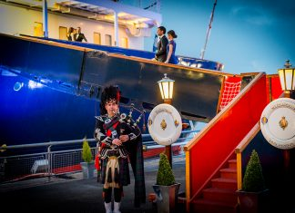 A private dinner on board the Royal Yacht Britannia