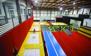 Families can book a session at the trampolines and spring floor zone.