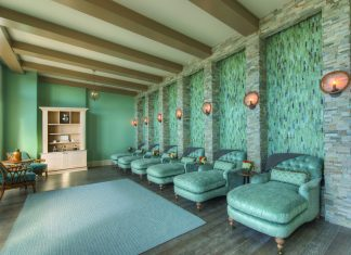 The Spa Lounge at Salamander Spa.