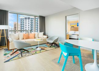 The recently renovated Gates Hotel South Beach combines Art Deco and contemporary styles.