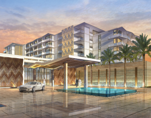 Rendering of the Hilton Cancun, which is expected to open by 2021.