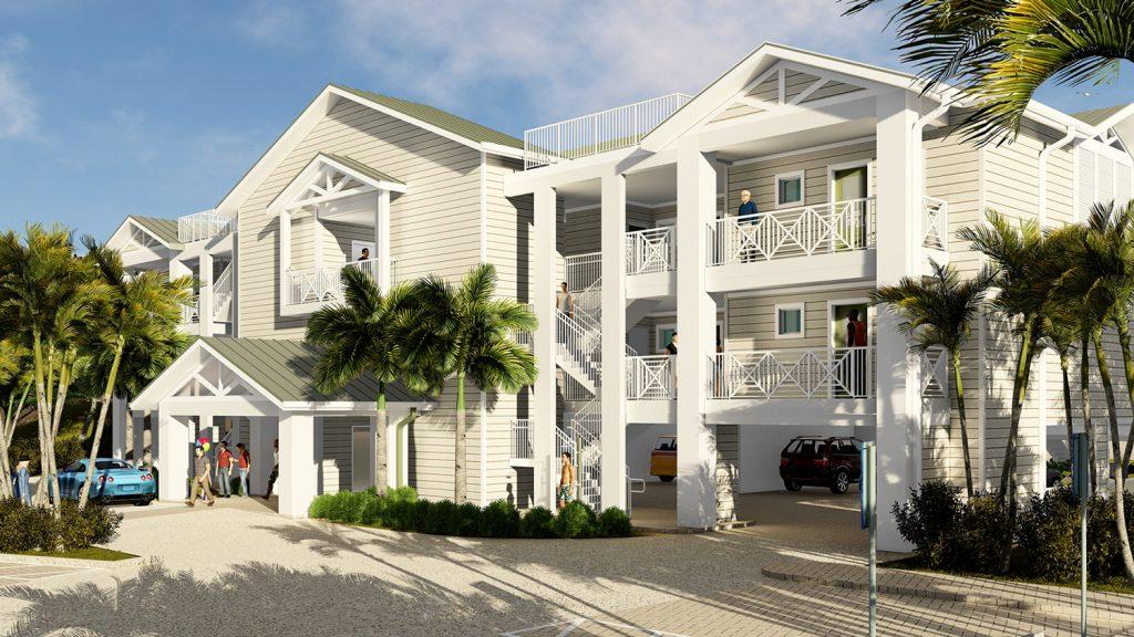 Artist renderings show the future look of the Island Inn luxury suites opening in 2018.