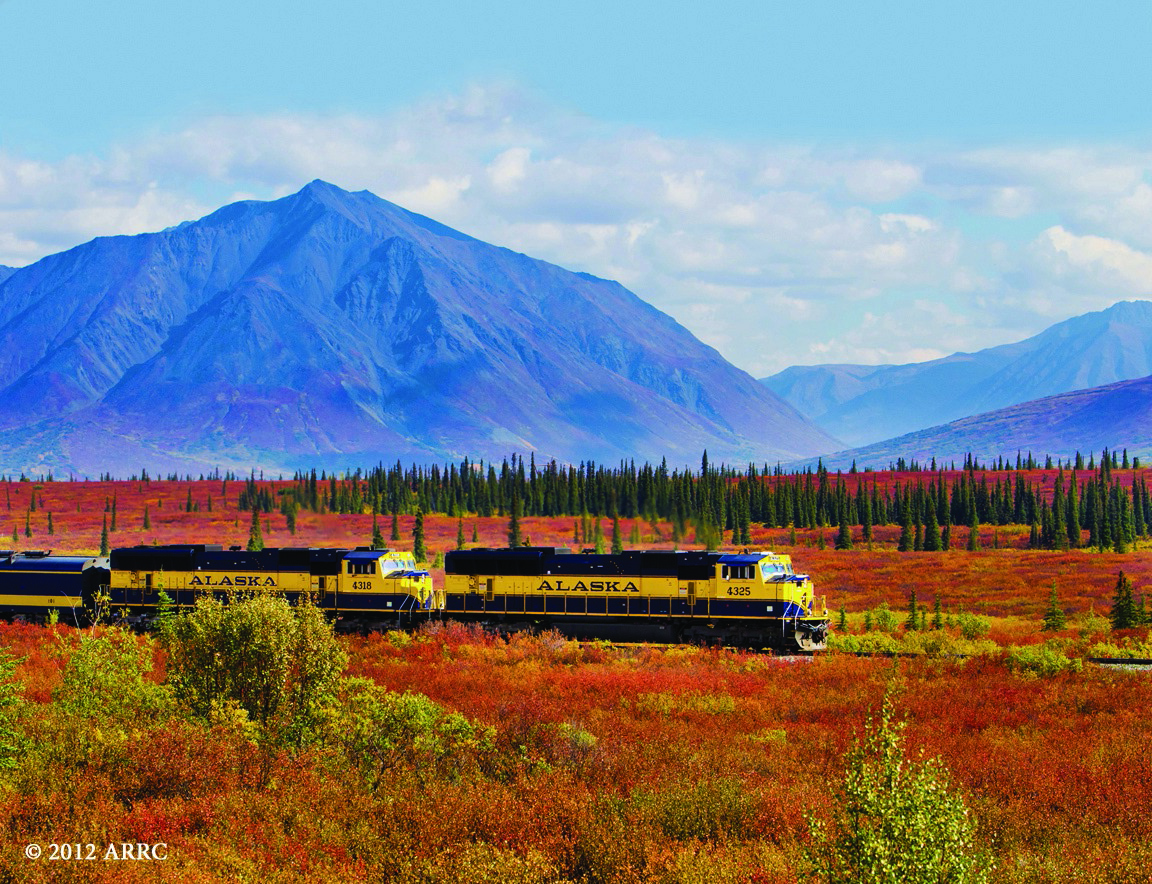 An Alaska Railroad experience is included in many tour options.