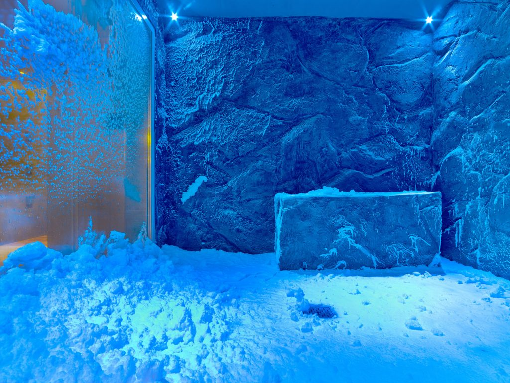 The Snow Grotto at the spa aboard Viking ships. (Photo courtesy of Viking Cruises.)