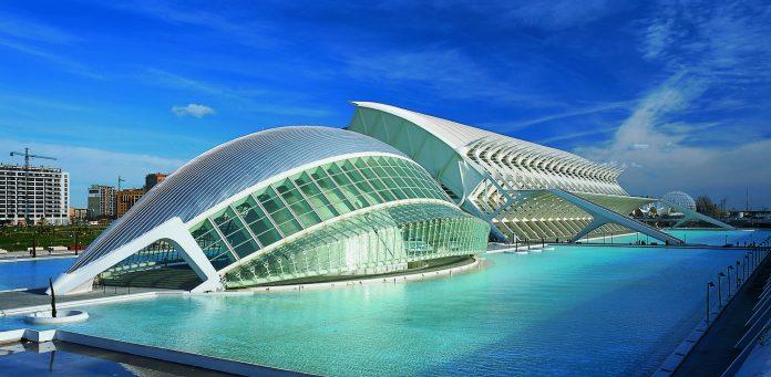 Ciudad de las Artes y las Ciencias (City of Arts & Sciences) in Valencia, Spain
