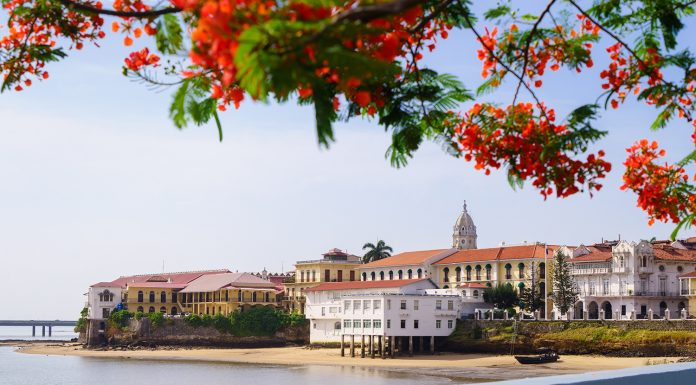 Views of Panama City's Casco Viejo .