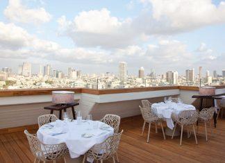 Overlooking Tel Aviv.