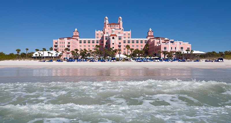 At The Don CeSar, guests can enjoy the Pink Palace's direct access to St. Pete Beach.