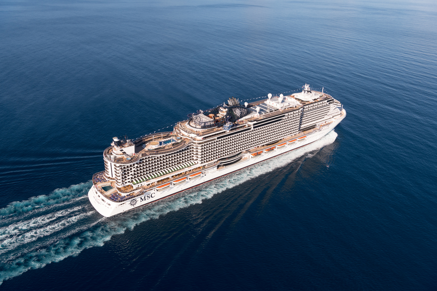 MSC Seaside at sea.