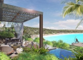 Pavilion-style suites at the Rosewood Half Moon Bay Antigua will offer ocean views when the property opens in 2021.