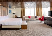 The Presidential Suite is one of 527 all-new guestrooms in the renovated Hilton Miami Downtown.