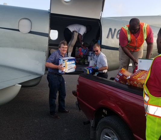 Maurice Bonham-Carter, ID Travel Group president and CEO delivered relief items to Anguilla following Hurricane Irma.