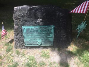 Sam Adams grave in Boston