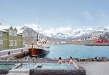 It isn't uncommon to find Icelanders soaking in a hot public pool on a cold winter day.