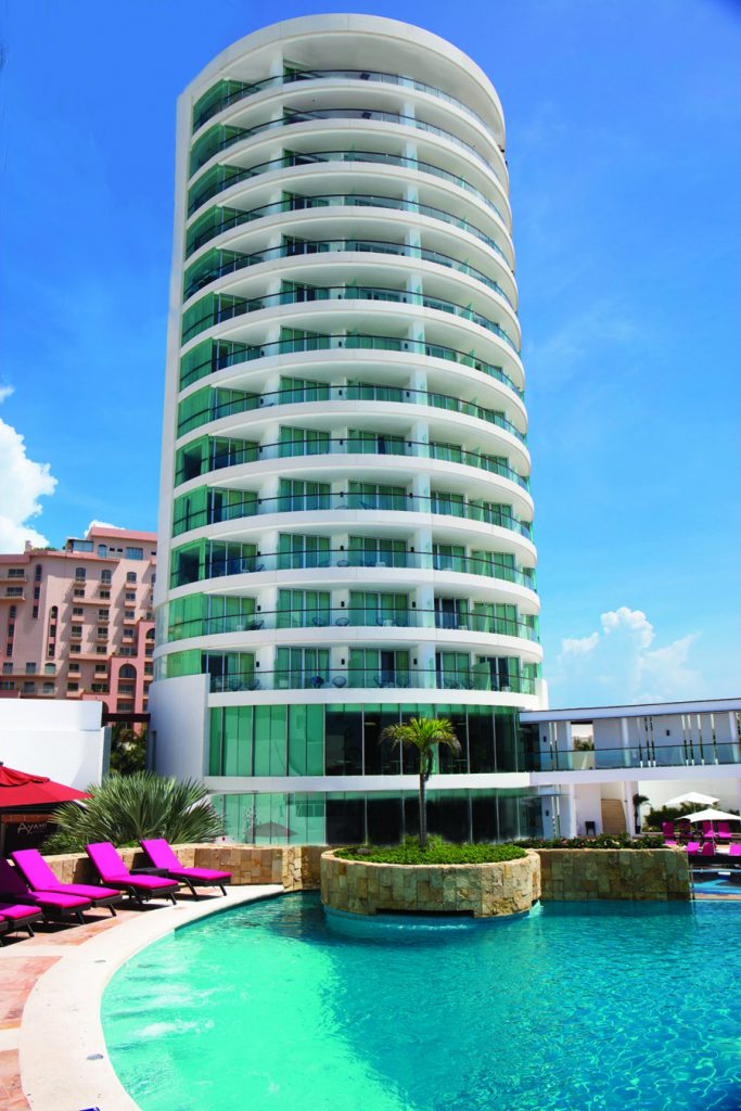 The new VIP Altitude Tower at Krystal Grand Punta Cancun