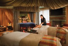 Grand Palace Suite at Omni Scottsdale Resort & Spa at Montelucia's Joya Spa.