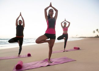 Beach yoga is one of many wellness activities guests can participate in at various Royalton Luxury Resorts throughout the Caribbean.