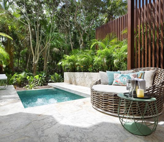 Junior Suite with a private pool area at TRS Yucatan.