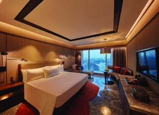 Accommodations at the new Conrad Bengaluru in India.