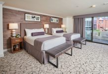 The Double Classic Room is one of 216 guestrooms at the Warwick Denver to be completely renovated.