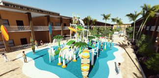 When completed, the Westgate Cocoa Beach Resort will feature a tropical-themed waterpark.
