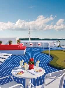 The sun deck of American Cruise Line's American Constellation, sailing this year in Alaska and the Pacific Northwest.