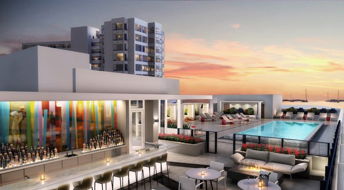Renderings show the future of the rooftop pool deck at Art Ovation Hotel in Sarasota.
