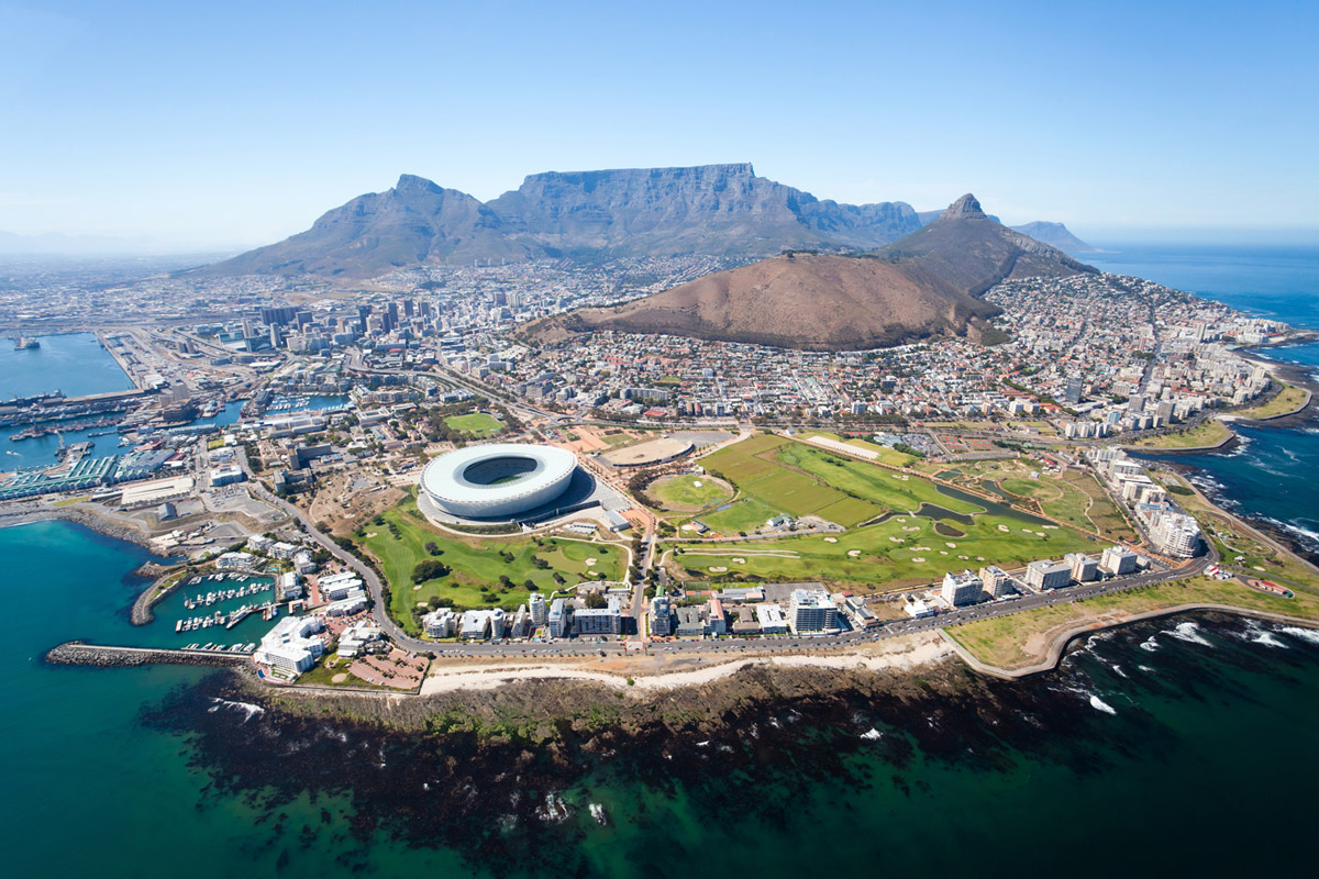 Aerial views of Cape Town. (Photo courtesy of Cox & Kings.)
