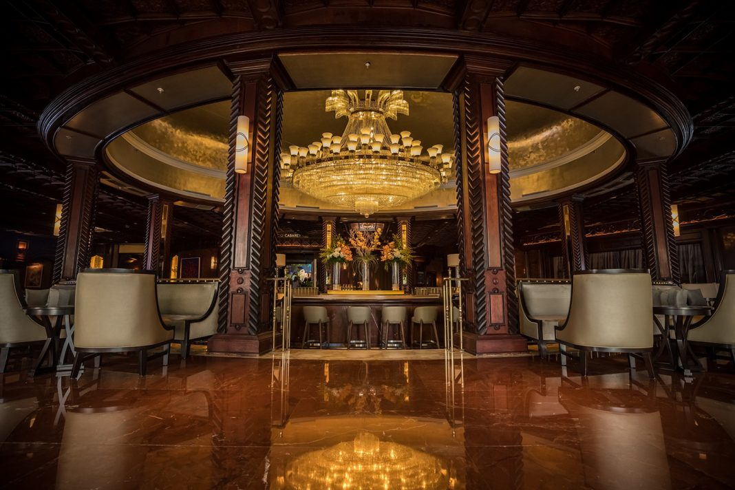 The Chandelier Bar inside El San Juan Hotel is one of several public spaces being restored at the iconic hotel.