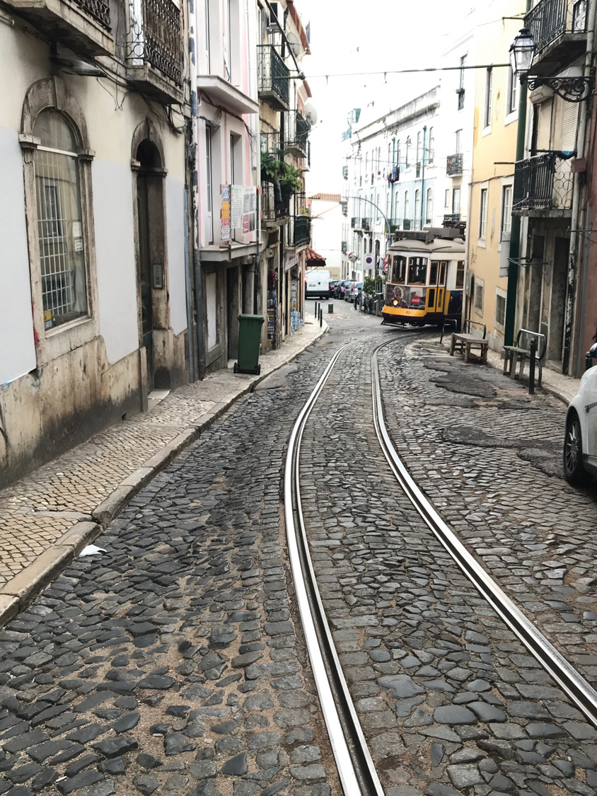 strolling through Lisbon. (Michelle Arean)
