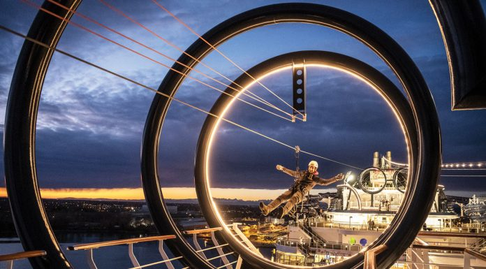 Passengers can go ziplining while sailing the Caribbean on board MSC Seaside.