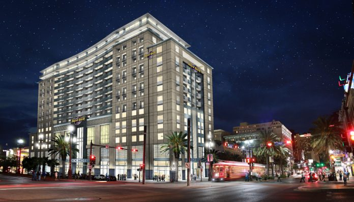 Rendering of Hard Rock Hotel New Orleans.
