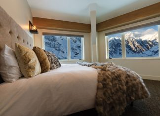 Swanky accommodations at the new Sheldon Chalet in Denali National Park.