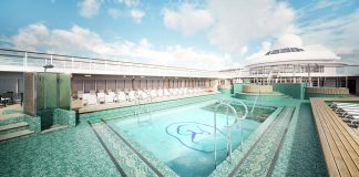 Following its April refurbishment, the Seven Seas Mariner will feature an open layout pool deck.
