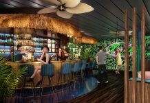 The Bamboo Room, a Polynesian-themed bar, is one of several new offerings guests can expect to see on the Mariner of the Seas.