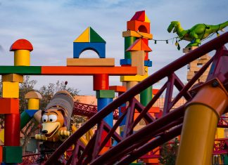 The new Slinky Dog ride at the Toy Story Land. (Photo courtesy of Walt Disney World.)