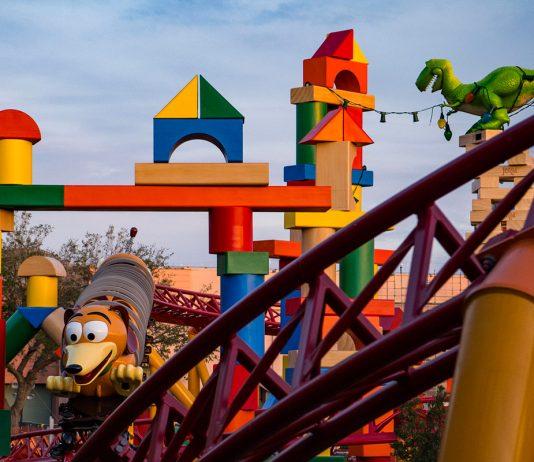 The new Slinky Dog ride at the Toy Story Land. (Photo courtesy of Walt Disney World.)