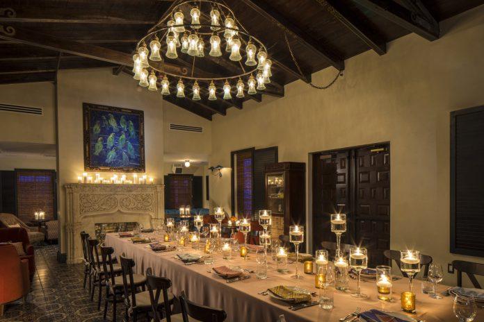 Dinner at The Confidante Miami Beach. (Photo courtesy of The Confidante Miami Beach.)