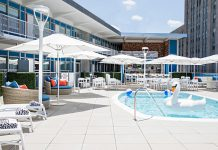When the weather warms up, guests can soak up the sun on Unscripted Durham's rooftop pool.