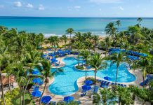 The Wyndham Grand Rio Mar Puerto Rico Golf Resort is one of several properties with reopening dates coming up son.