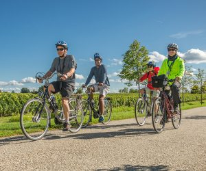 Guided biking excursions are one way that guests on an AmaWaterways cruise can stay fit while they vacation.