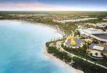 Aerial view of the Barcelo Maya Palace.
