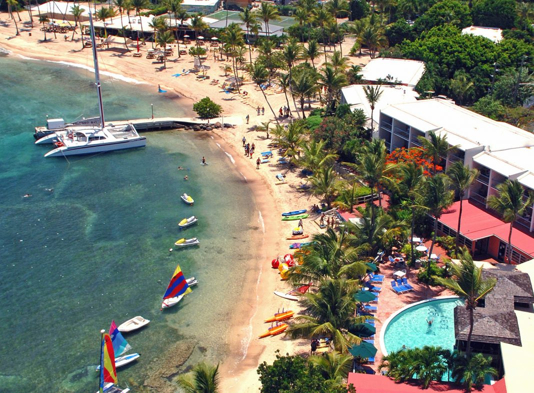 Bolongo Bay Beach Resort on St. Thomas is one of several properties in the U.S. Virgin Islands set to reopen this year.