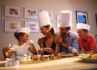 Cooking classes for the family at Luxury Bahia Principe Fantasia in Punta Cana, Dominican Republic.