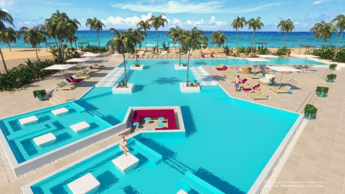 Renderings of the new pool design at Club Med Turkoise.