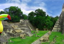 Views of Guatemala Tikal Main Plaza. (Photo courtesy of Tara Tours.)