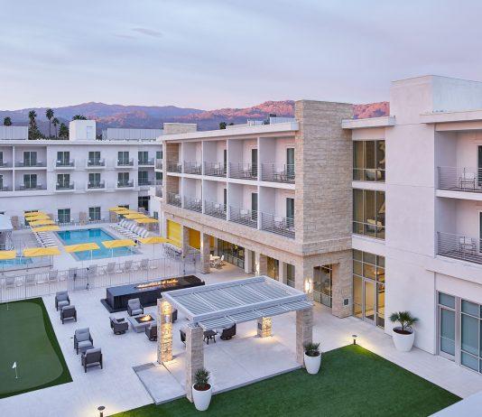 Views of Hotel Paseo's Backyard Lawn. (Photo Credit: Daniel Collopy.)