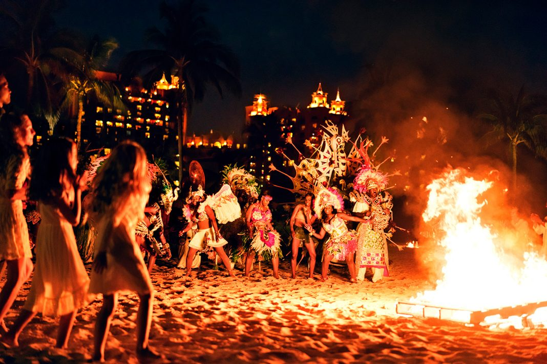 Weekly Junkanoo celebrations give guests a chance to experience a celebratory side of Bahamian culture.