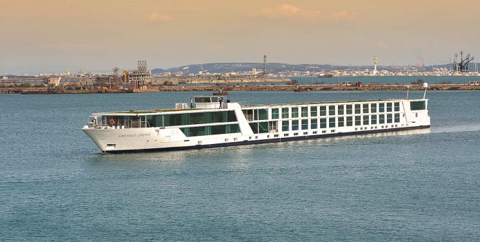 Emerald Waterways' Liberte vessel sailing in France.