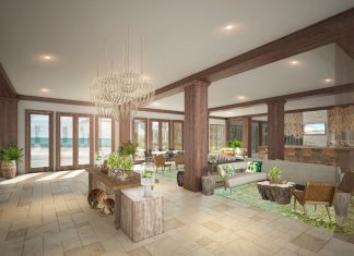 Lobby at Cheeca Lodge & Spa.